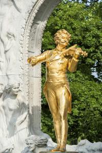 Johann Strauss Monument, Vienna, Austria by Jim Engelbrecht
