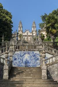 Lamego, Portugal, Shrine of Our Lady of Remedies, Azulejo by Jim Engelbrecht