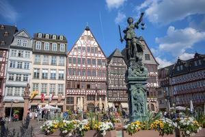 Old City Center Market, Fountain, Frankfurt, Hessen, Germany by Jim Engelbrecht