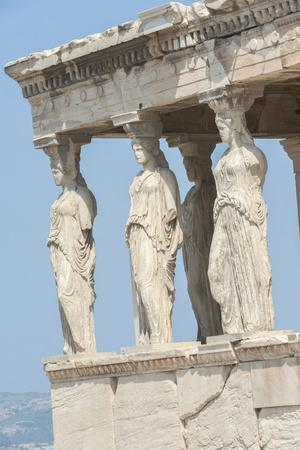 Porch of the Maidens, Erechtheion, Acropolis, Athens, Greece, Europe