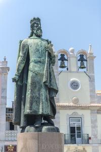 Portugal, Cascais, Statue of D. Pedro Iv in Praca 5 de Outubro by Jim Engelbrecht