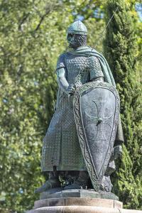 Portugal, Guimaraes, Statue of Afonso Henriques by Jim Engelbrecht