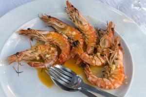 Portugal, Porto, Shrimp with Garlic and Butter by Jim Engelbrecht