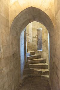 Tower staircase, Castel del Monte, Andria, Italy by Jim Engelbrecht