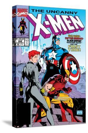 Uncanny X-Men No.268 Cover: Black Widow, Wolverine and Captain America