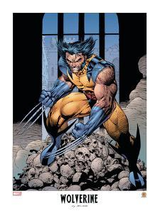 Wolverine Lithograph: Wolverine by Jim Lee