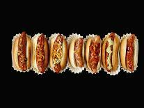 A Row of Hot Dogs-Jim Norton-Photographic Print