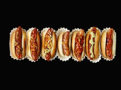 A Row of Hot Dogs by Jim Norton