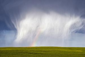 A Thunderstorm Produces a Large Hail Shaft by Jim Reed