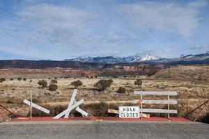 An Asphalt Road Comes to an Abrupt End Just before a Spectacular Landscape by Jim Reed