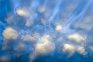 Close Up of Spectacular Mammatus Clouds by Jim Reed