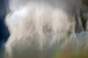Extreme Close Up of a Large Hail Shaft Produced by a Thunderstorm by Jim Reed
