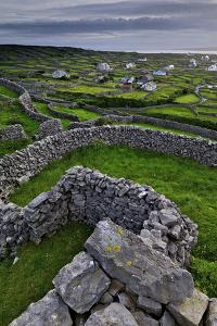 Ancient Stone Walls Pattern the Landscape on the Island of Inisheer by Jim Ricardson