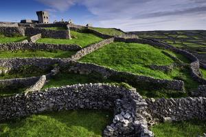 Castle O'Brian and Ancient Stone Walls on the Island of Inisheer by Jim Ricardson