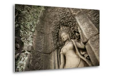 Lichens Grow on Ornate Stone Carvings and Bas Relief at Angkor Wat