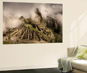 Clouds Drift over the Pre-Columbian Inca Ruins of Machu Picchu by Jim Richardson