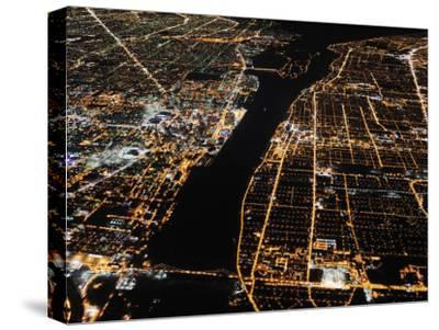 Detroit from the Air at Night, Views of Windsor, Ontario, Opposite