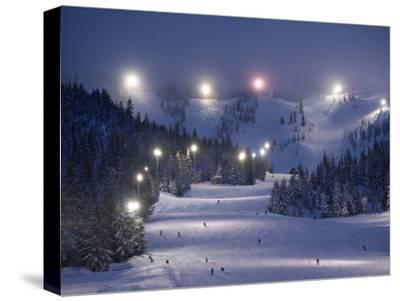Lighting over the Mt. Hood Skibowl night skiing area