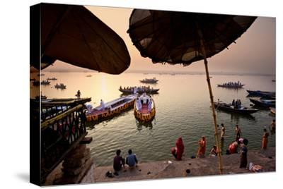 Morning Bathing in the Ganges in Varanasi, India