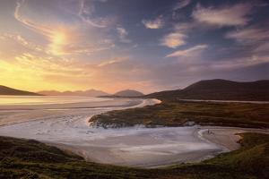Sunset Illuminates Luskentyre Strand and Its Serpentine Coastline by Jim Richardson