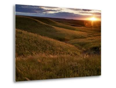 Sunset over the Kansas prairie