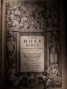 The Title Page of an Original King James Bible Dating from 1611 by Jim Richardson