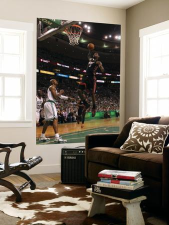 Boston, MA - June 03: LeBron James and Ray Allen