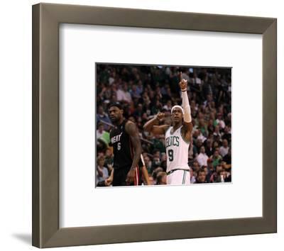 Boston, MA - June 03: Rajon Rondo and LeBron James