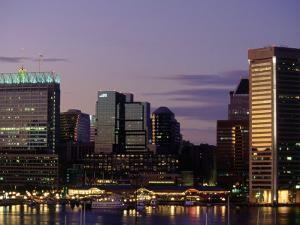 Inner Harbor at Dusk, Baltimore, Maryland by Jim Schwabel