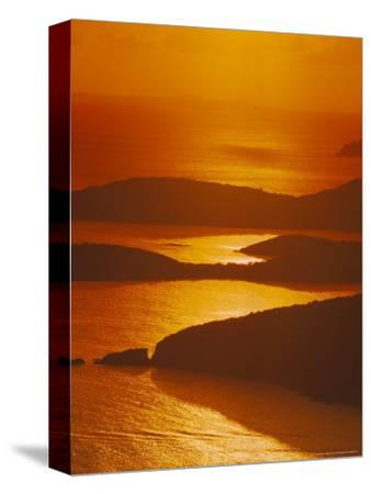 Sun Setting Over Harbor, St. Thomas, VI