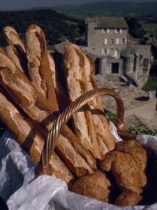 Fresh French Bread and Rolls in Provence, in the South of France by Jim Sugar