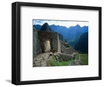 Archaeological Ruins on Machu Picchu Hillside
