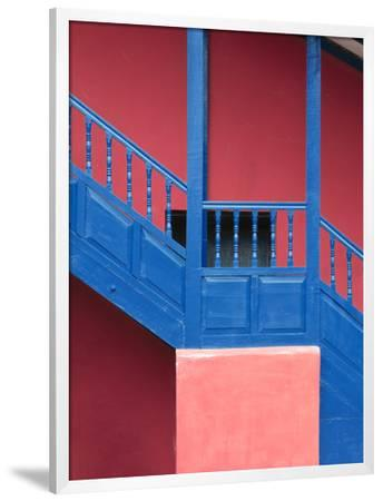 Colorful Architectural Detail of Wall and Stairs, Near Cusco, Peru
