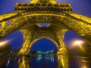 Eiffel Tower Illuminated at Night, Paris, France by Jim Zuckerman