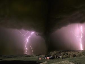 Farm Threatened by Tornado by Jim Zuckerman