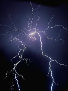 Lightning at Night by Jim Zuckerman
