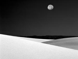 Nighttime with Full Moon Over the Desert, White Sands National Monument, New Mexico, USA by Jim Zuckerman