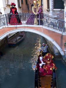 People Dressed in Costumes For the Annual Carnival Festival, Venice, Italy by Jim Zuckerman