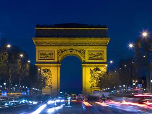 The Arc de Triomphe and the Champs Elysees at Twilight, Paris, France by Jim Zuckerman