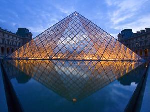 The Louvre at Twilight, Paris, France by Jim Zuckerman