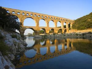 The Pont du Gard Roman Aquaduct Over the Gard River, Avignon, France by Jim Zuckerman