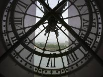 View Across Seine River from Transparent Face of Clock in the Musee d'Orsay, Paris, France-Jim Zuckerman-Photographic Print