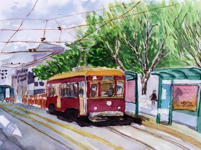 Streetcar Watercolor Sketch