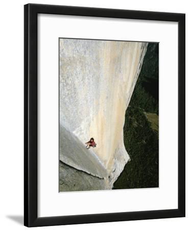 A Man Climbs El Capitan, Yosemite, California