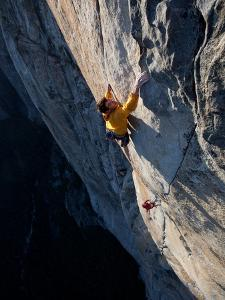 Climbers, Without Ropes, Grip an Expanse of El Capitan by Jimmy Chin