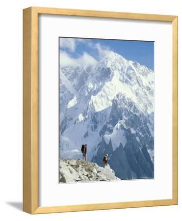 Two Hikers in Charakusa Valley, Karakoram, Pakistan