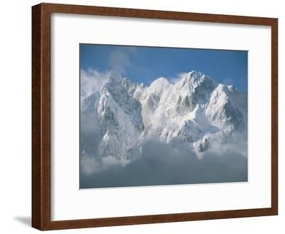 View of the Karakoram Ranges Snow-Covered K6 after a Storm
