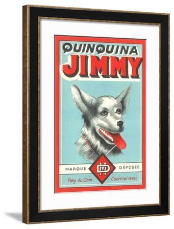 Jimmy Quinine Label--Framed Art Print
