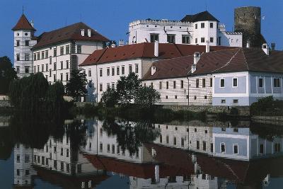 Jindrichuv Hradec Castle, Renaissance Style, Overlooking Fish Pond, Bohemia, Czech Republic--Photographic Print