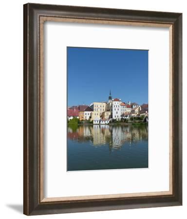Jindrichuv Hradec with its reflection in Lake Vajgar-Jan Halaska-Framed Photographic Print